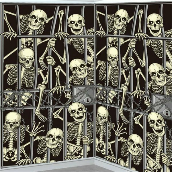 Halloween Giant Skeleton Back Drop (1.06 x 1.8m)